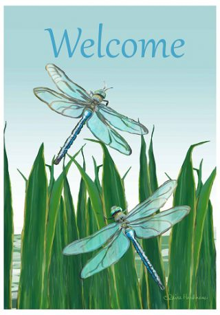 Dragonflies Flag | Welcome Flags | Yard Flags | Summer Flags | Cool Flag