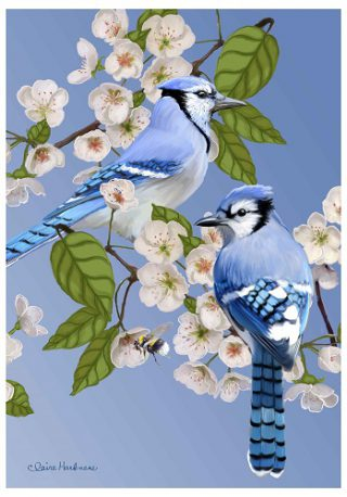 Garden Friends Flag | Spring Flags | Bird Flags | Yard Flags | Cool Flags