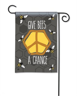 Give Bees a Chance Garden Flag | Wildlife Flags | Inspirational Flags