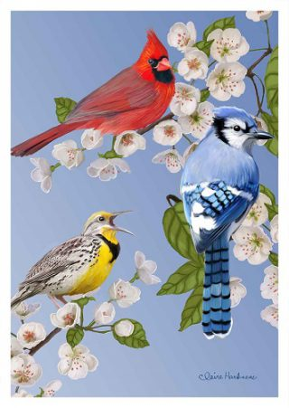 Meadowlark Song Flag | Spring Flags | Bird Flags | Garden House Flags
