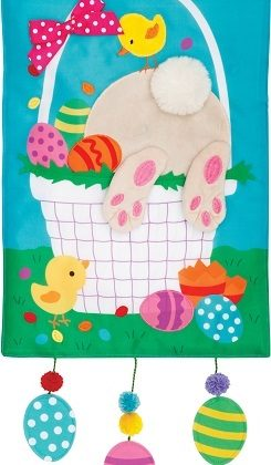 Easter Basket Flag | Applique Flags | Easter Flags | Two Sided Flags | Flag