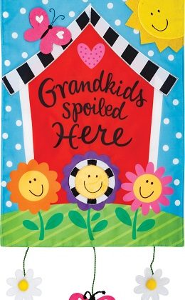 Grandkids House Flag | Applique Flag | Spring Flag | Inspirational Flags