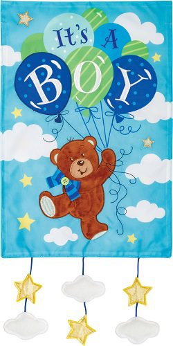 It's a Boy Flag | Applique Flags | Celebration Flags | Two Sided Flags | Flag