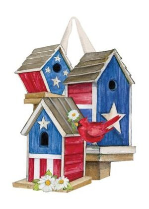 All-American Birdhouses Door Decor | Door Hanger | Door Decor | Door Art