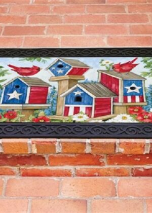 All-American Birdhouses Doormat | Decorative Doormats | Matmates