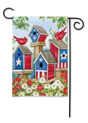 All-American Birdhouses Garden Flag | Patriotic Flags | 4th of July Flags