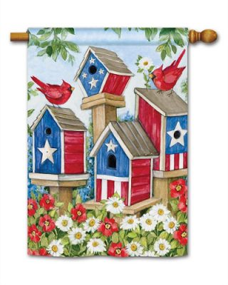 All-American Birdhouses House Flag | Patriotic Flags | 4th of July Flags
