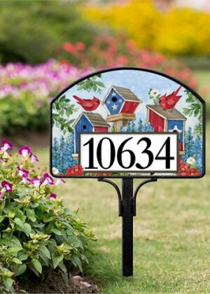 All-American Birdhouses Yard Sign | Yard Sign | Address Plaques
