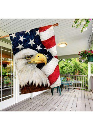 American Eagle House Flag | Patriotic Flags | 4th of July Flags | Bird Flags