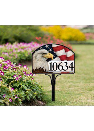 American Eagle Yard Sign | Yard Sign | Address Plaques | Garden Decor