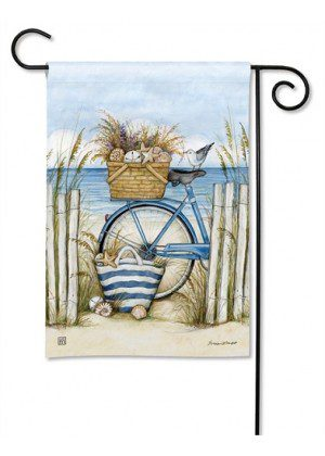 Beach Bike Garden Flag | Spring Flags | Summer Flags | Beach Flags