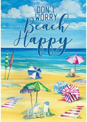 Beach Happy Flag   Summer Flags   Cool Flags   Inspirational Flags   Flags