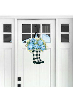 Black & White Wellies Door Decor | Door Hangers | Door Decor | Door Art