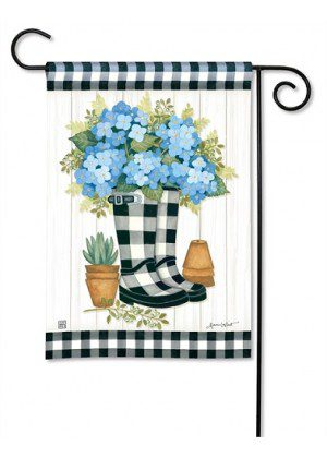 Black & White Wellies Garden Flag | Cool Flag | Spring Flag | Garden Flag