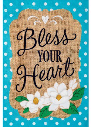 Bless Your Heart Flag   Applique Flags   Two Sided Flag   Inspirational Flag
