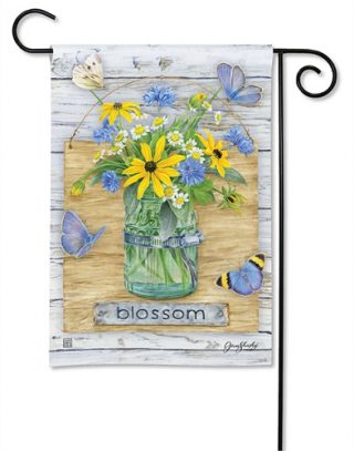 Blossom Jar Garden Flag | Floral Flags | Spring Flag | Garden Flags