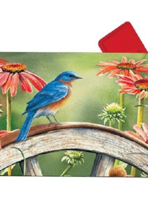 Bluebird Visit Mailbox Cover | Mailbox Covers | Decorative Mailwraps