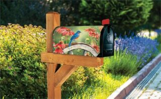 Bluebird Visit Mailbox Cover | Mailbox Cover | Mailbox Covers | Mailwraps