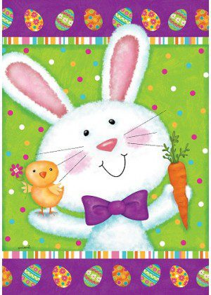 Bowtie Bunny Flag | Easter Flags | Double Sided Flags | Cool Flags