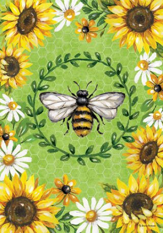 Bumblebees & Sunflowers Flag | Spring Flags | Floral Flags | Cool Flags
