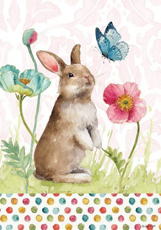 Bunny & Flowers Flag | Easter Flags | Double Sided Flags | Cool Flags