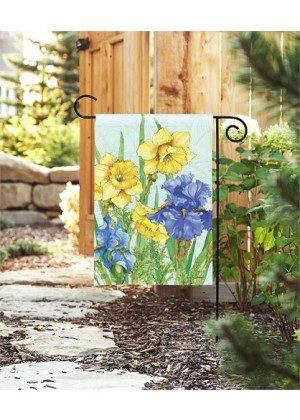 Daffodils & Irises Garden Flag | Floral Flags | Spring Flag | Garden Flags