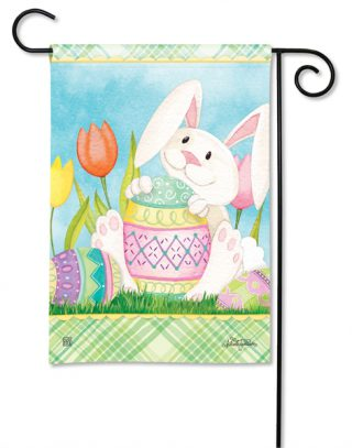 Easter Bunny Here Garden Flag | Easter Flags | Cool Flags | Holiday Flags