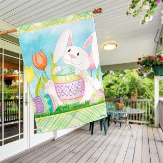 Easter Bunny Here House Flag | Easter Flags | Cool Flags | Holiday Flags