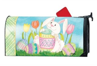 Easter Bunny Here Mailbox Cover | Mailbox Covers | Mailwraps