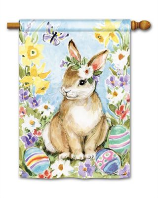 Easter Visit House Flag | Easter Flags | Yard Flags | Holiday Flags | Flags