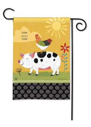 Farm Charm Fun Garden Flag