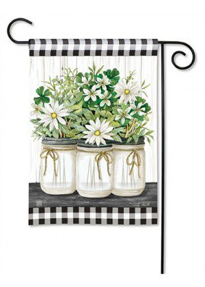 Farmhouse Daisies Garden Flag | Floral Flag | Cool Flag | Farmhouse Flag
