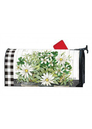Farmhouse Daisies Mailbox Cover | Mailbox Cover | Decorative Mailwraps