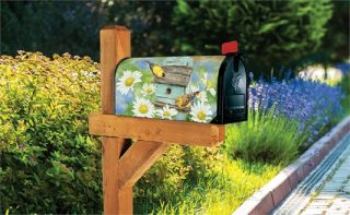Finches & Flowers Mailbox Cover | Mailbox Cover | Mailwraps