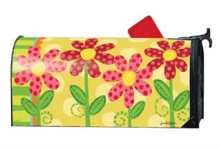 Folk Flowers Mailbox Cover | Mailbox Covers | Decorative Mailwraps