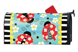 Folk Ladybugs Mailbox Cover | Mailbox Covers | Decorative Mailwraps