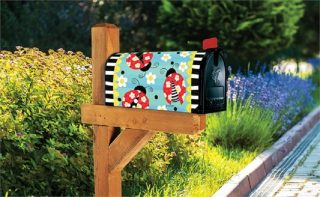 Folk Ladybugs Mailbox Cover | Mailbox Covers | Mailwraps | Garden Decor