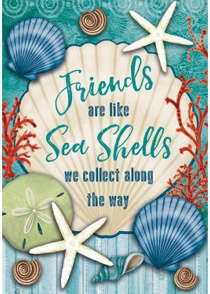 Friends & Seashells Flag | Summer Flags | Cool Flags | Inspirational Flags