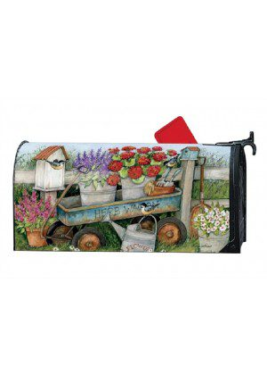 Garden Wagon Mailbox Cover | Decorative Mailwraps | Mailbox Covers