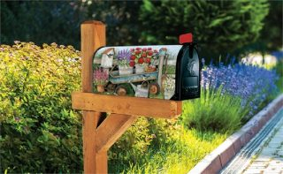 Garden Wagon Mailbox Cover | Decorative Mailbox Covers | Mailwraps