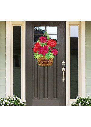 Geranium Variety Door Decor | Door Hanger | Door Decor | Door Art
