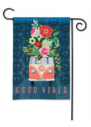 Good Vibes Garden Flag | Floral Flags | Inspirational Flags | Cool Flags