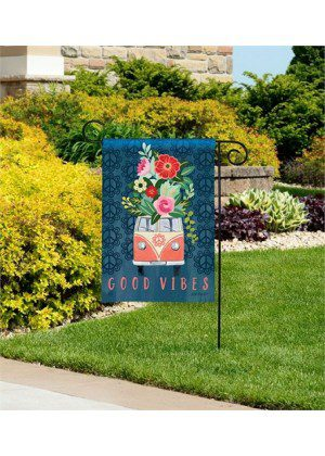 Good Vibes Garden Flag | Floral Flags | Spring Flags | Cool Flags