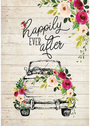 Happily Ever After Flag | Wedding Flags | Double Sided Flags | Cool Flags