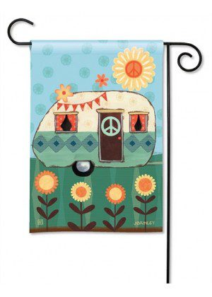 Happy Life Garden Flag | Floral Flags | Spring Flag | Yard Flags | Cool Flag