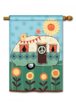 Happy Life House Flag | Summer Flags | Floral Flags | Yard Flags | Flags