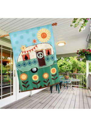 Happy Life House Flag   Summer Flags   Floral Flags   House Flags