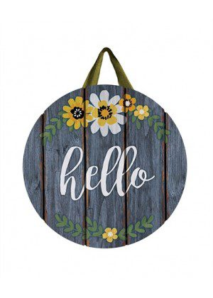 Hello Flowers Door Decor | Door Hangers | Door Decor | Door Art