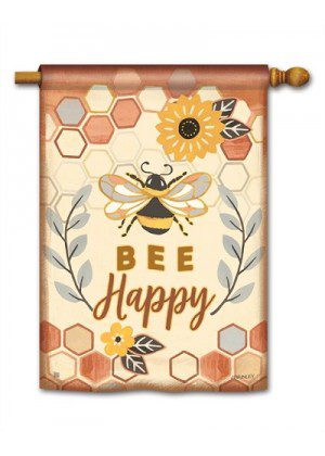 Honey & Hive House Flag | Yard Flags | Spring Flags | Inspirational Flags