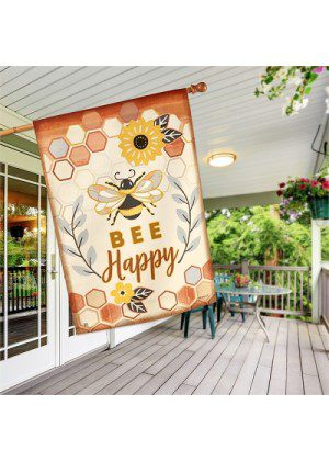 Honey & Hive House Flag | House Flags | Spring Flags | Inspirational Flags